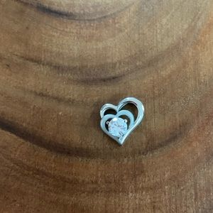 Jewelry - ❤️❤️Double Heart Pendant With Cubic Zirconia❤️❤️